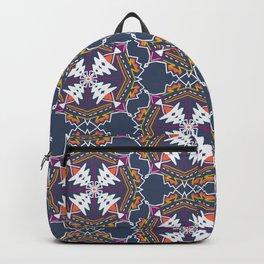 apache, tribal pattern in grey Backpack