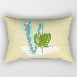 Vegetable Vacuum Cleaner V Rectangular Pillow