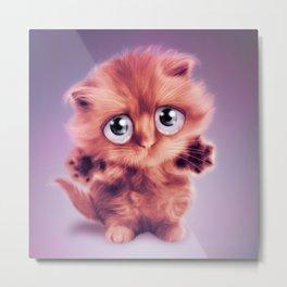 Hug me Kitty Metal Print