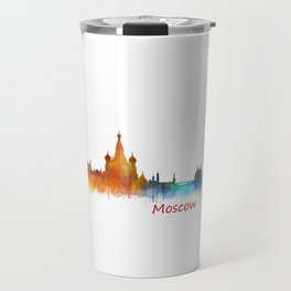 Moscow City Skyline art HQ v2 Travel Mug