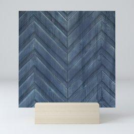 Midnight Blue Chevron Mini Art Print