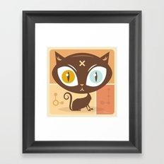 The cat did it... Framed Art Print