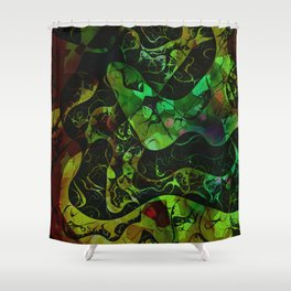 Abstract DM 03 Shower Curtain