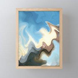 Hair Puzzle: digital abstract art Framed Mini Art Print