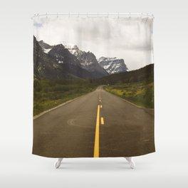 Glacier Roads Shower Curtain