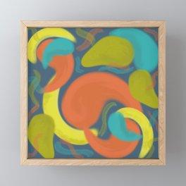 Modern Abstract Paisley Fruit Framed Mini Art Print