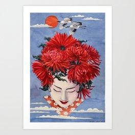 Gaisha Flower girl Art Print