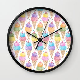 Crayon - IceCream Wall Clock