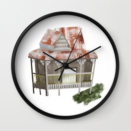 Little Old Abandoned House Wall Clock