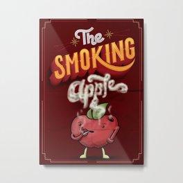 The Smoking Apple Metal Print