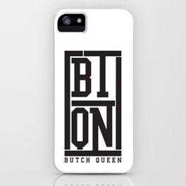 Butch Queen Initial Logo iPhone Case