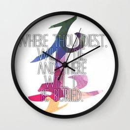 Parabatai Quote Wall Clock