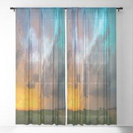 Glorious - Stormy Sky and Kansas Sunset Sheer Curtain