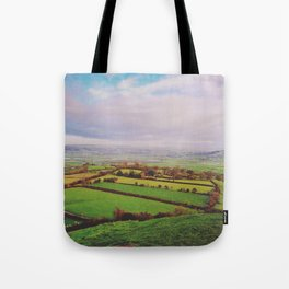 Rolling Green Tote Bag