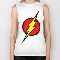 the flash Biker Tanks featuring Flash by Sport_Designs