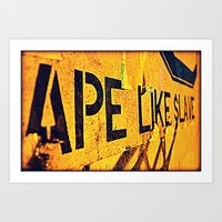 ape Art Prints featuring Ape by Michael S.