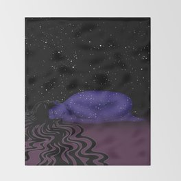 Nuit, The Lady of the Stars Throw Blanket