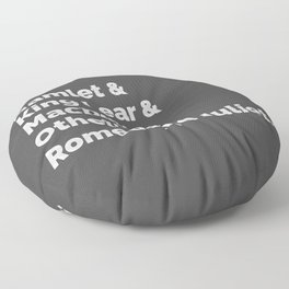 The Shakespeare Plays I Floor Pillow
