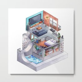 Game room Metal Print
