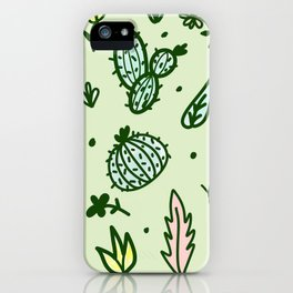 Cactus Collage iPhone Case