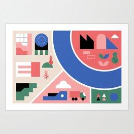 City Map Fragment VIII Art Print