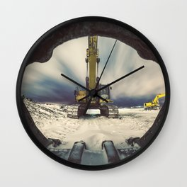 Mouth of the Machine Wall Clock