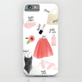 Ballet essentials iPhone Case