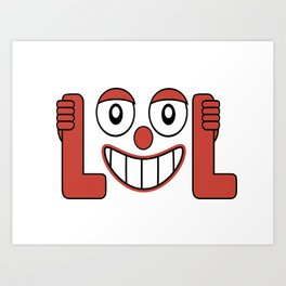 Laughing Out Loud Illustration Art Print