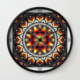 Sacred Places Red Wall Clock