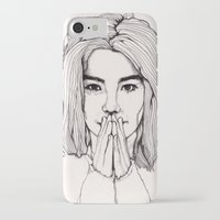 bjork iPhone & iPod Cases featuring Bjork by Paul Nelson-Esch Art