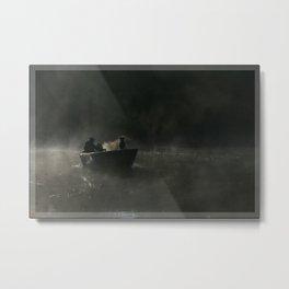 Dog in Fog Metal Print
