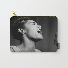 Billie Holiday Print , Jazz Artist 1940, Vintage Photo , Premium Quality Print. Carry-All Pouch