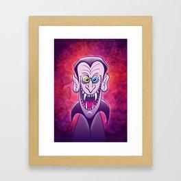 Evil Dracula Framed Art Print