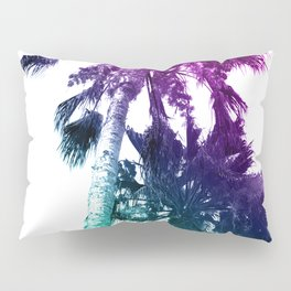 Retro Vintage Ombre Pop Art Los Angeles, Southern California Palm Tree Colored Print Pillow Sham