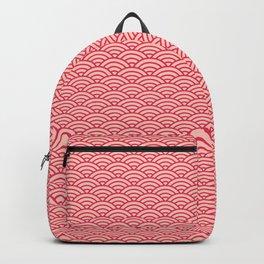 Japanese Sakura Koinobori Fish Scale Pattern Backpack
