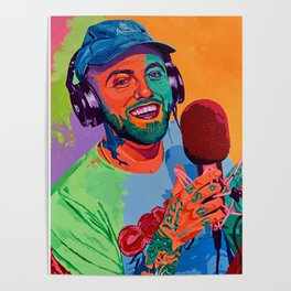 Mac Miller Art Canvas Poster-Mac Miller Casino Chips & Cards Art Canvas Printed Picture Wall Art Decoration POSTER or CANVAS READY Poster