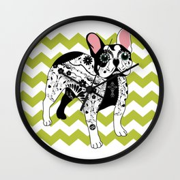 Day of The Dead (Bulldog) Wall Clock