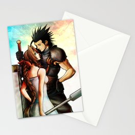 Zack and Aerith Stationery Cards