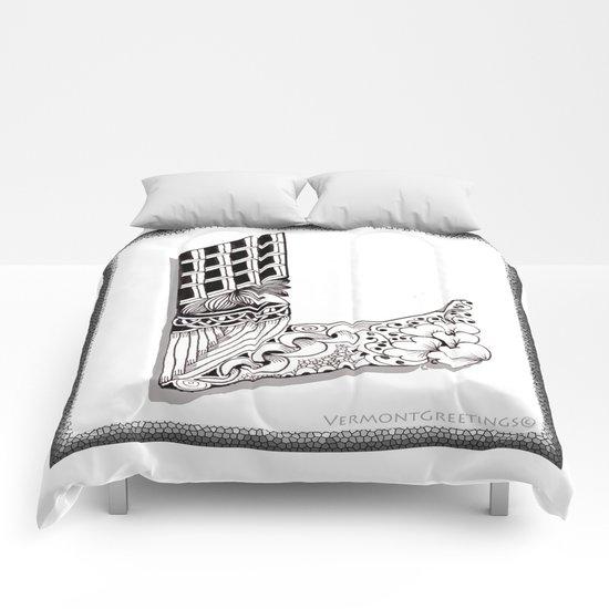 Zentangle L Monogram Alphabet Illustration Comforters