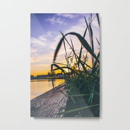 Sunset City Metal Print