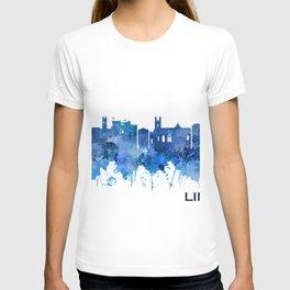 Limerick Ireland Skyline Blue T-shirt