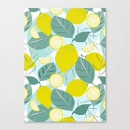 Lemons and Slices Canvas Print