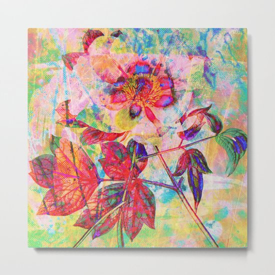 abstract anemone Metal Print