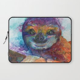Sloth Mixed Media on Yupo Laptop Sleeve
