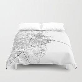 Minimal City Maps - Map Of Mobile, Alabama, United States Duvet Cover
