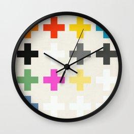 Crosses II Wall Clock