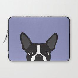 Boston Terrier Violet Laptop Sleeve