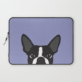 Boston Terrier Violet Laptop Sleeve