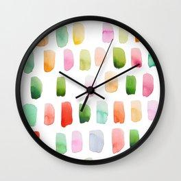 Watercolor brushstrokes Wall Clock