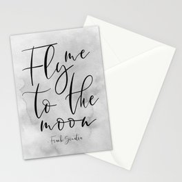 Fly Me To The Moon,Music Quote,Song Lyrics,Love Quote,Love Sign,Valentines,Quote Posters Stationery Cards